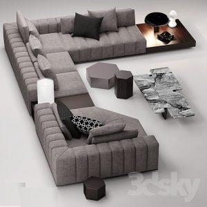 Corner U Shape Sofa